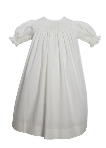 Girls Ready to Smock ~ for Smocking Bishop Dress in Ivory Color RTS sz 7--Carousel Wear - 1