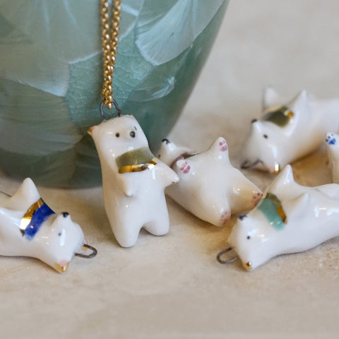 Brushstroke Bear Necklace