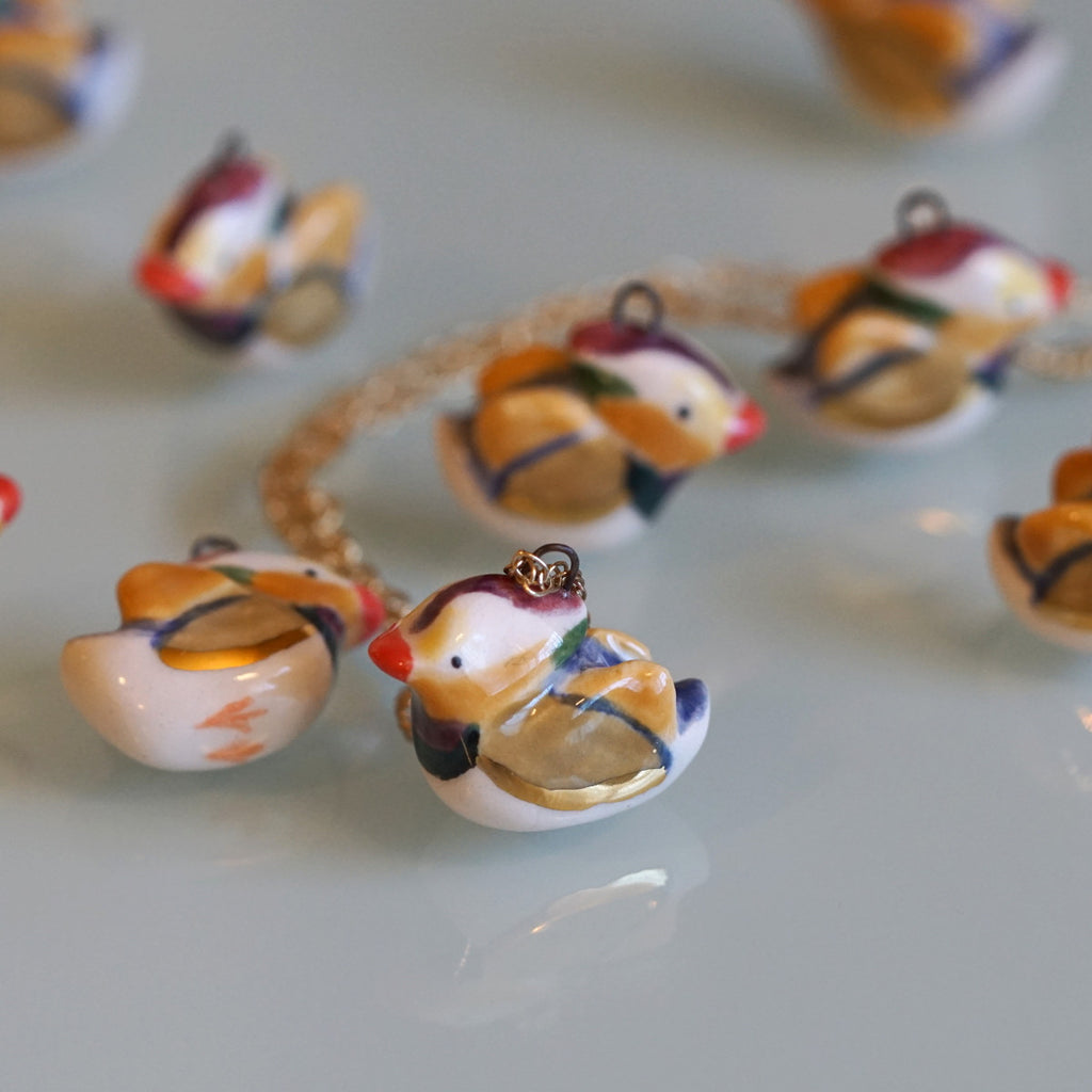 Mandarin Duck Necklace