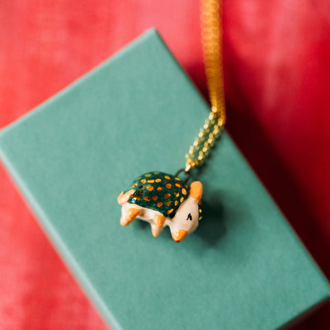 Green Armadillo Necklace