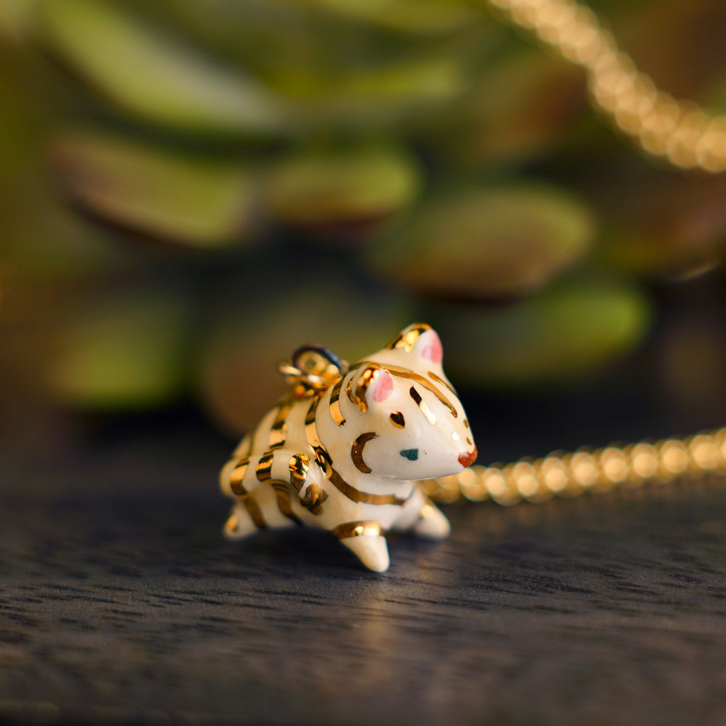 Yellow Tiger Necklace