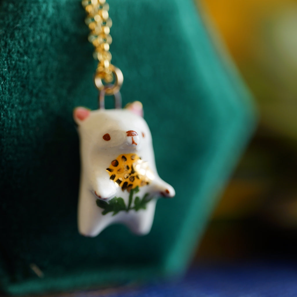 Dandelion Bear Necklace