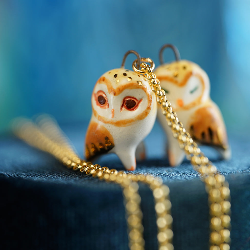 Reversible Barn Owl Necklace