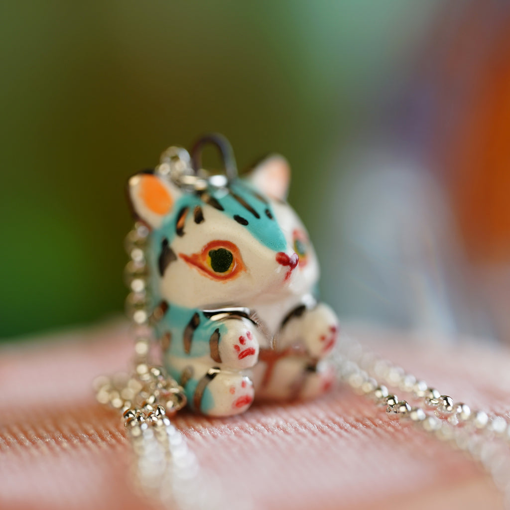 Aqua Tiger Necklace