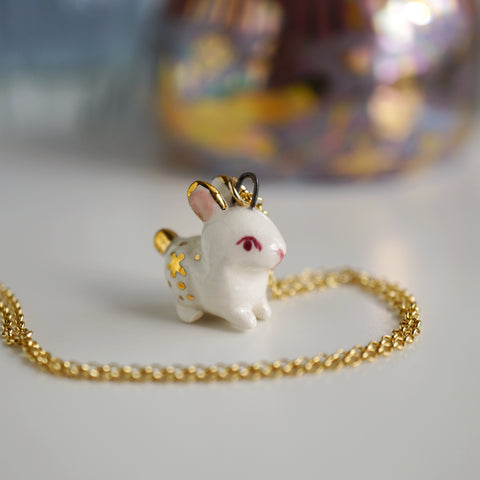 White Rabbit Necklace