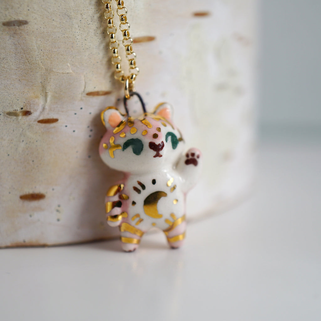 Pink Moon Tiger Necklace