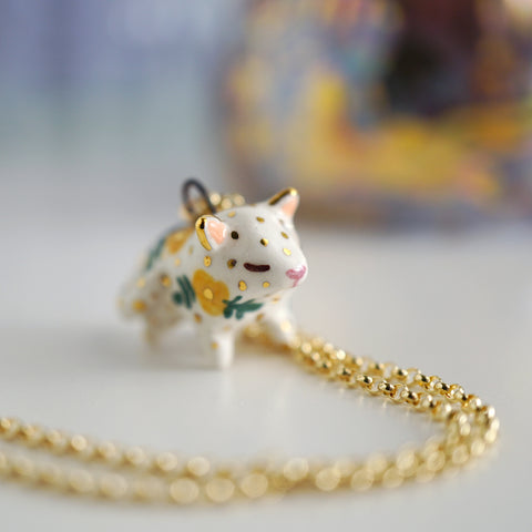 Floral Cat Necklace
