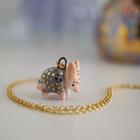 Tiny Armadillo Necklace