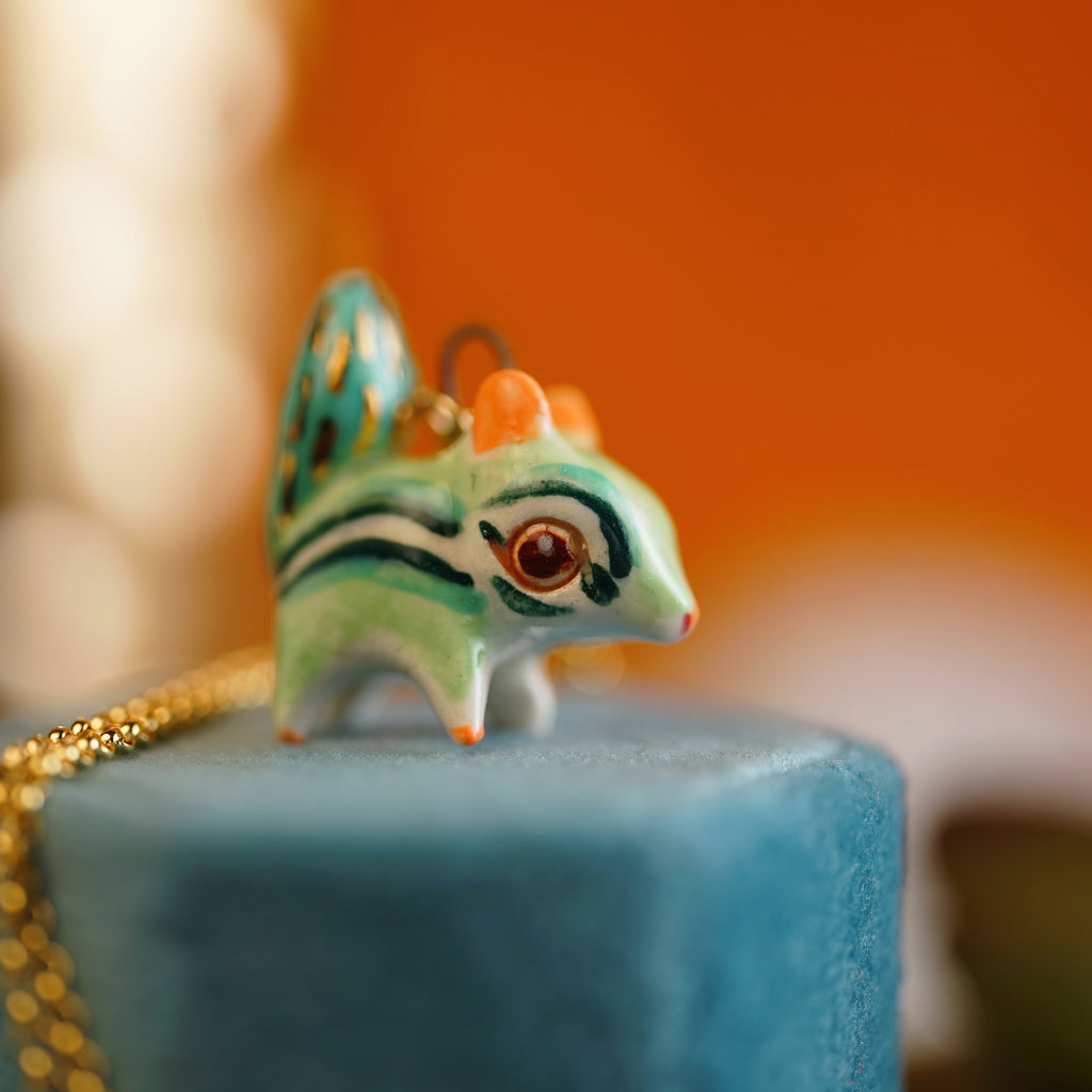 Mint Chipmunk Necklace