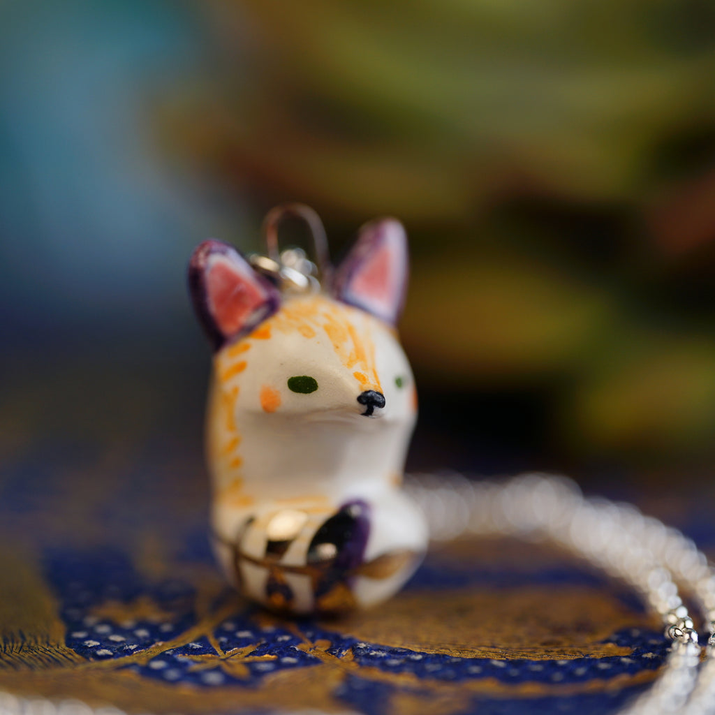 Fern Tail Fox Necklace