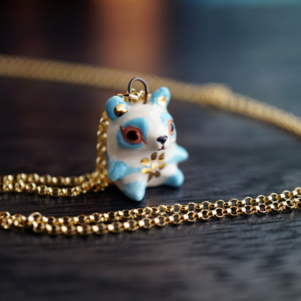 Blue Panda Necklace