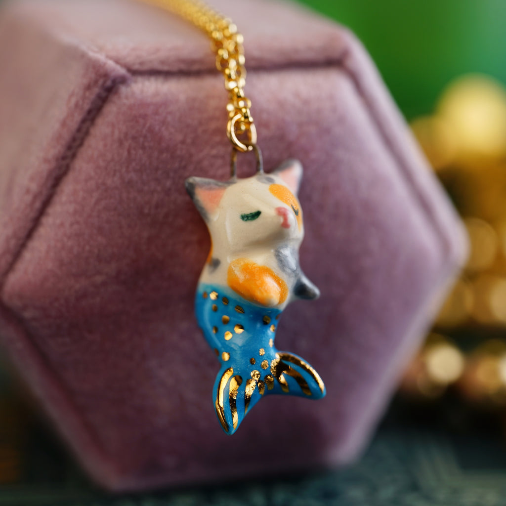 Calico Purrmaid Necklace