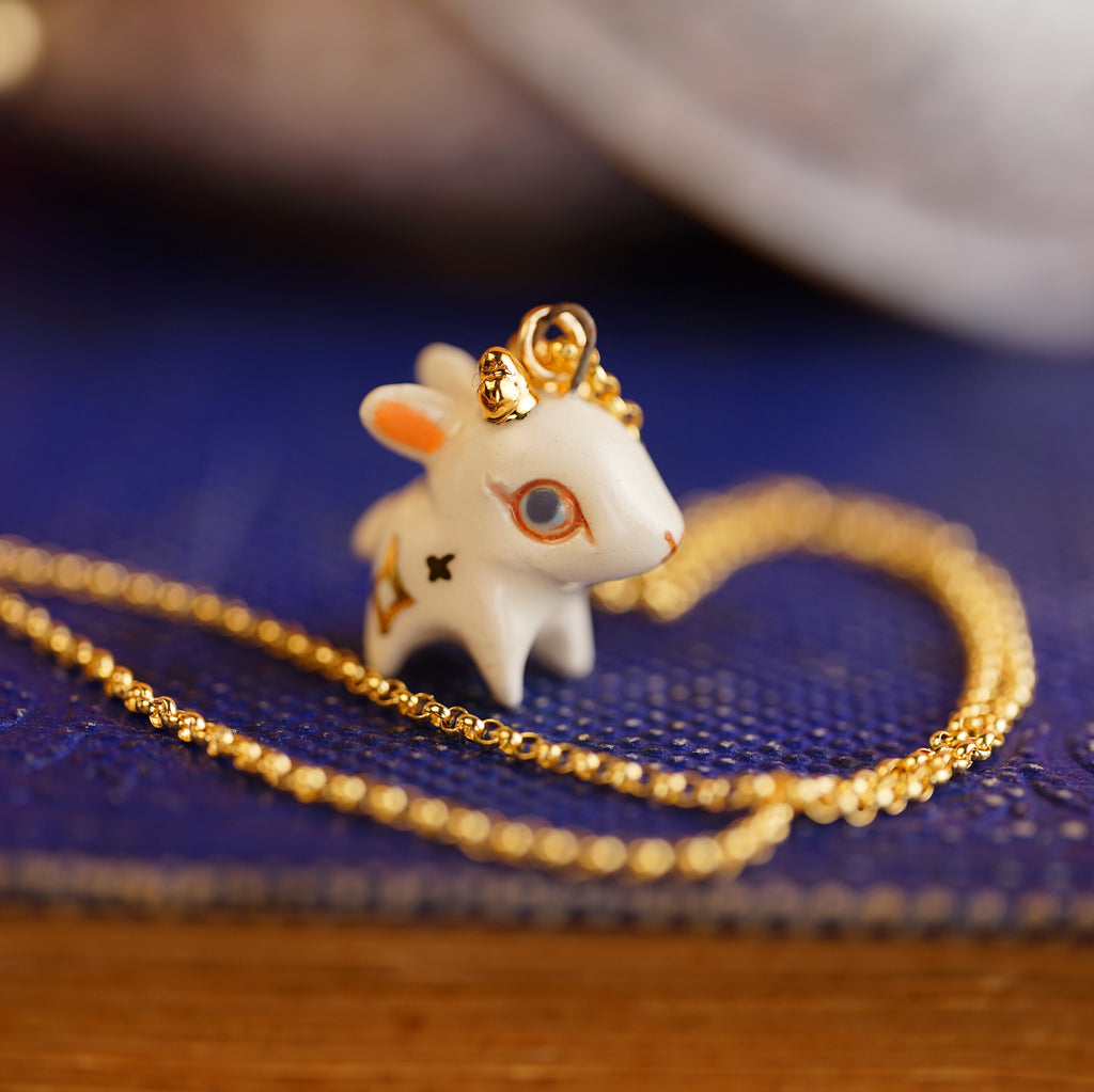Starry Jackalope Necklace