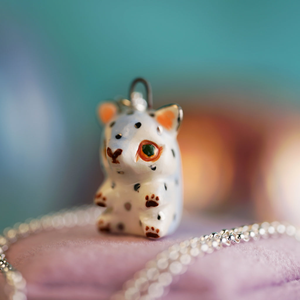 Periwinkle Cat Necklace