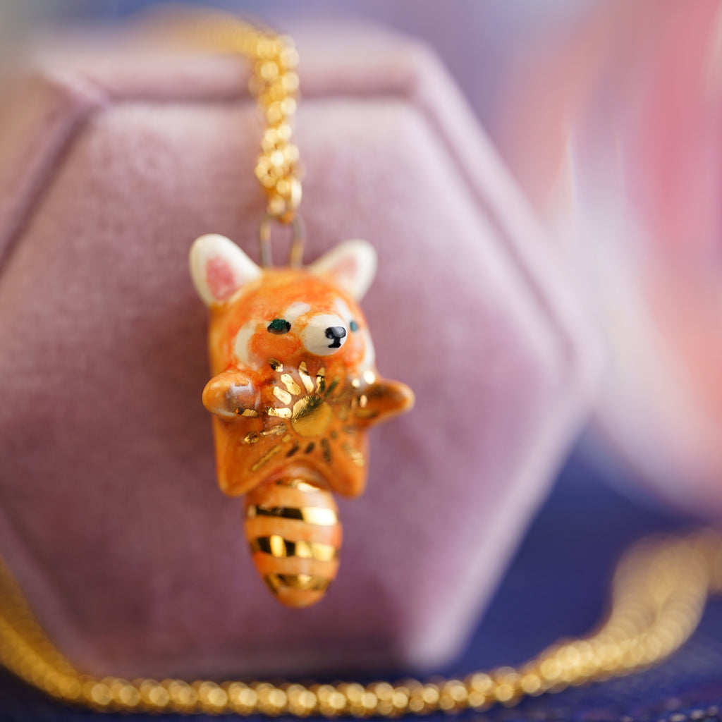 Sunny Red Panda Necklace