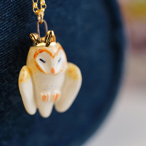 King Barn Owl Necklace