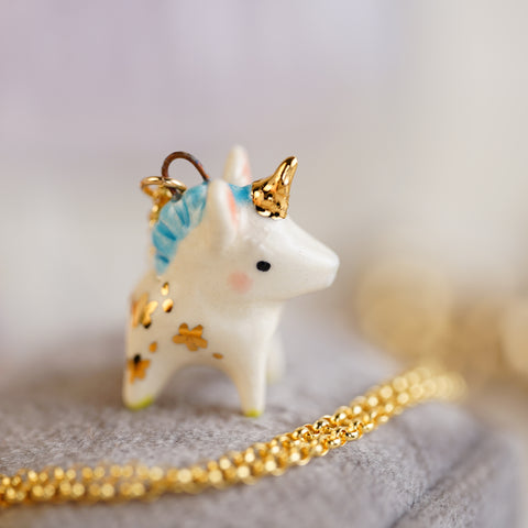 Starry Unicorn Necklace
