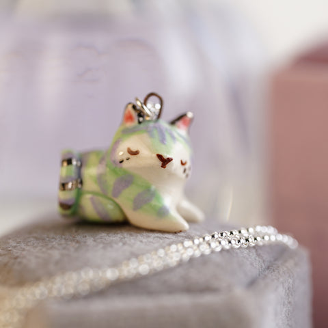 Mint Tiger Necklace