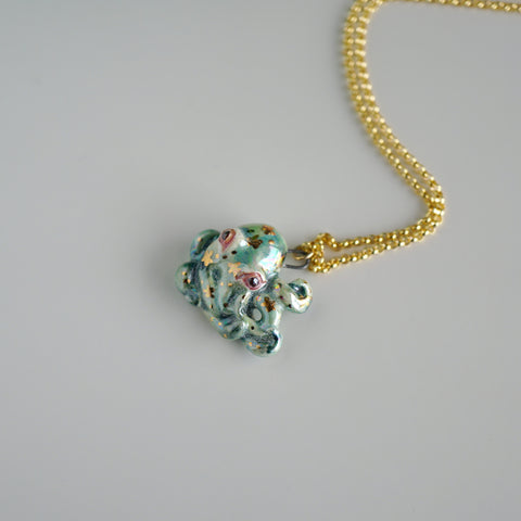 Green Octopus Necklace