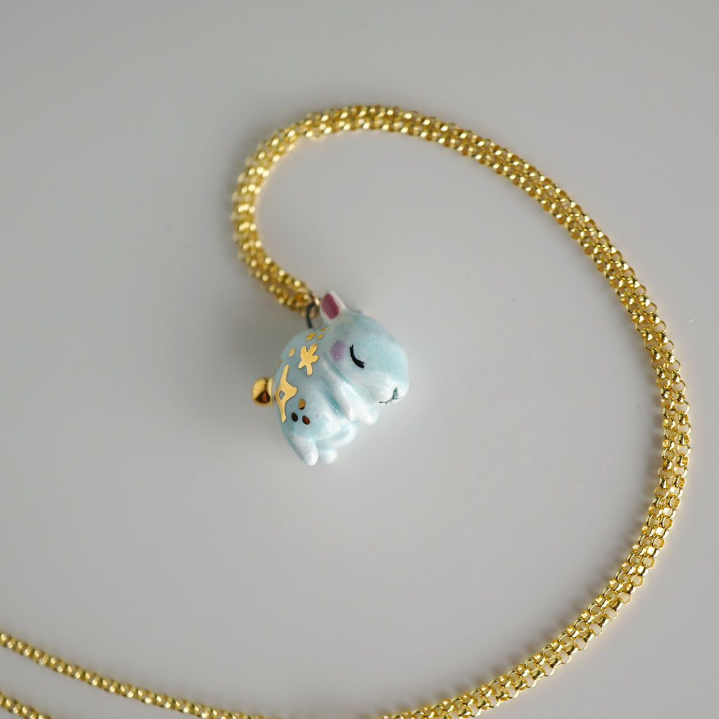 Blue Bunny Necklace