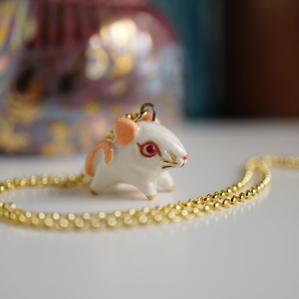 White Rat Necklace