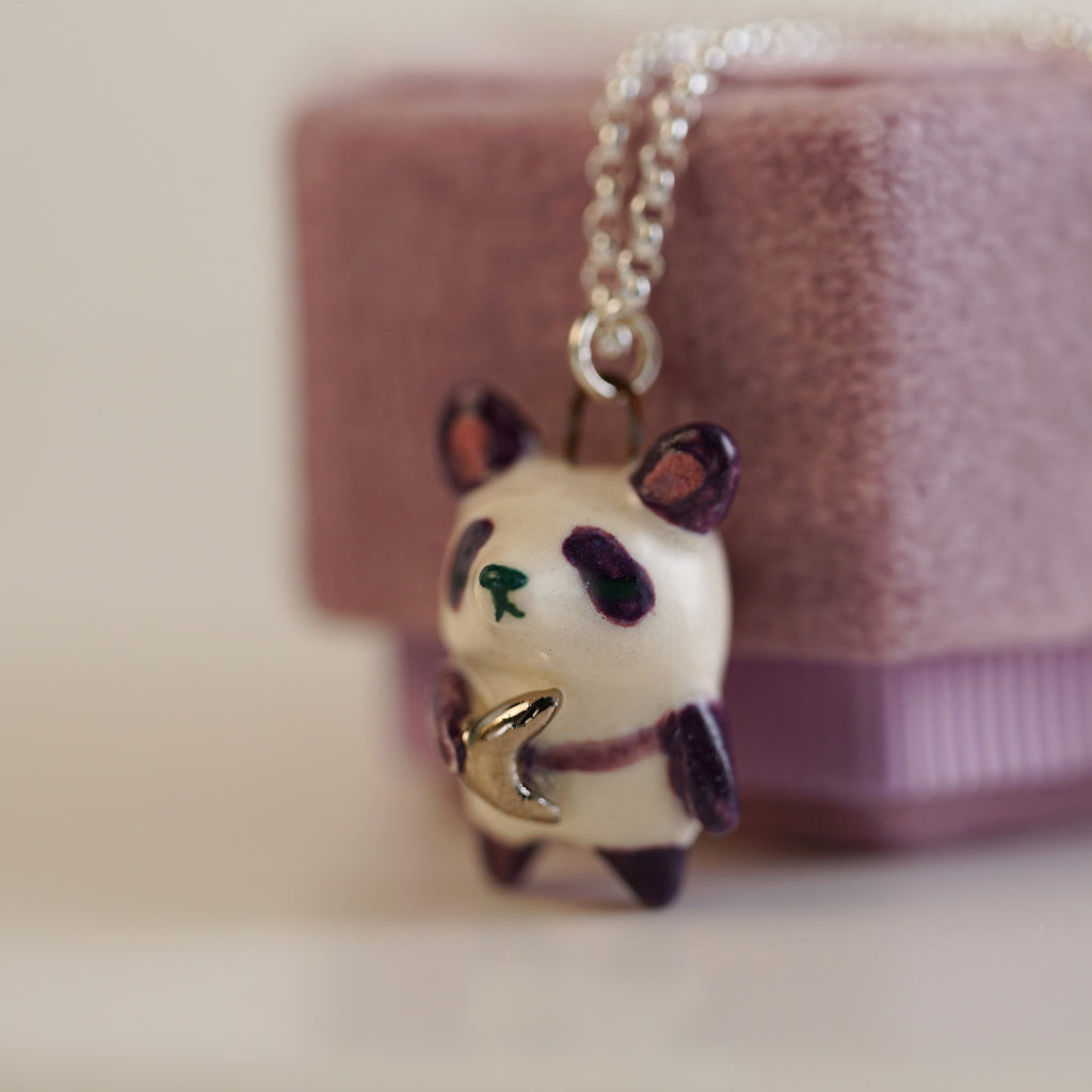 Moon Keeper Panda Necklace