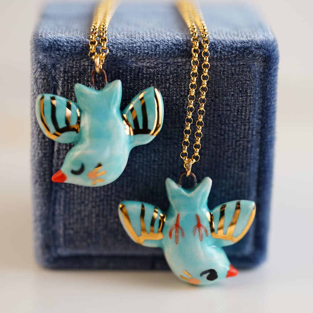 Reversible Bird Necklace