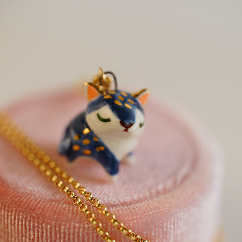 Cobalt Cat Necklace