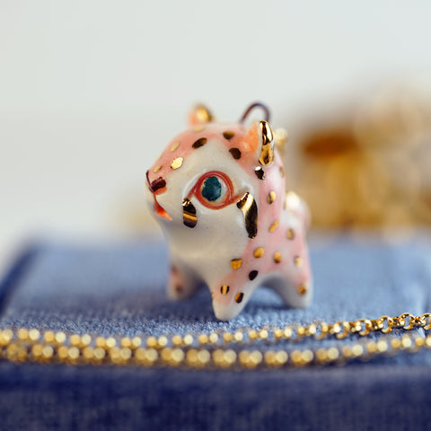 Pink Cheetah Necklace