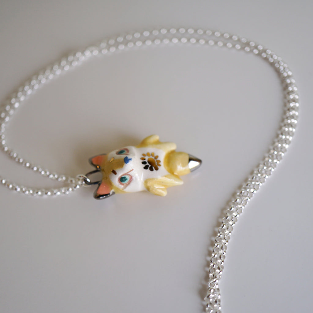 Yellow Fox Necklace