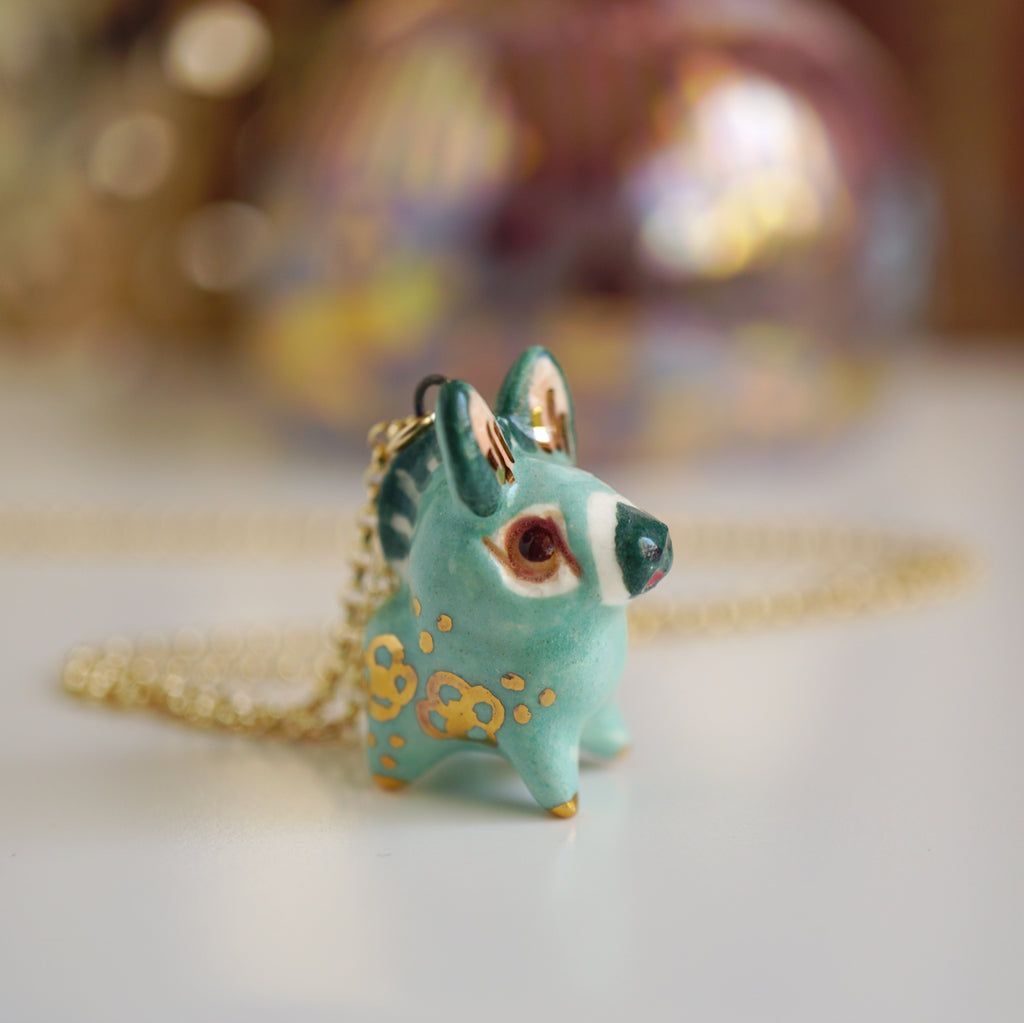 Jade Donkey Necklace