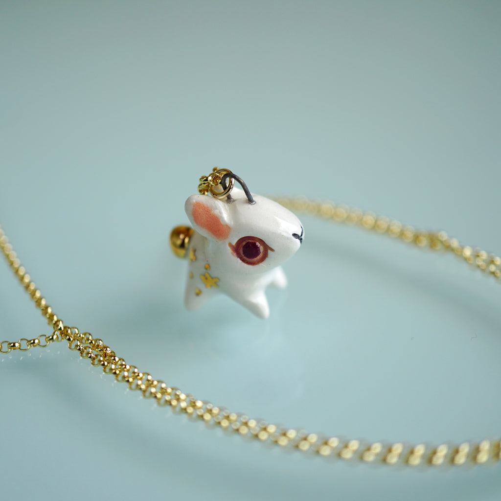 Starry Golden-tail bunny Necklace