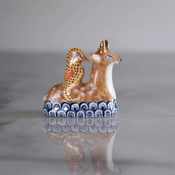 Swimming Deer and Seahorse