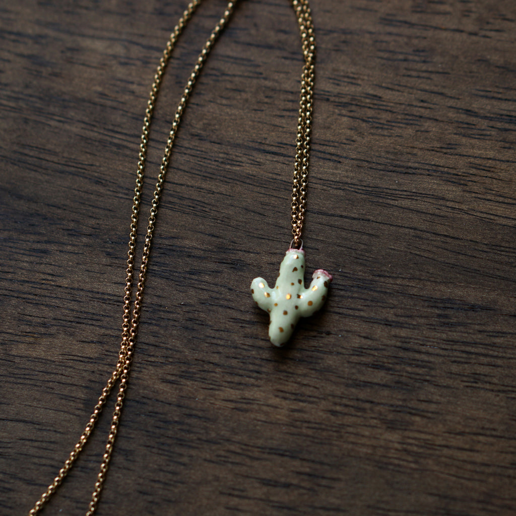 Flowering Cactus Necklace