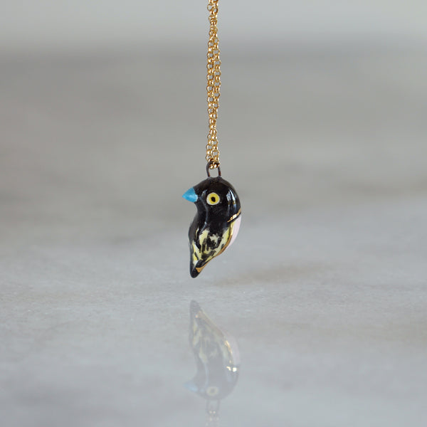 Black and Yellow Broadbill Necklace