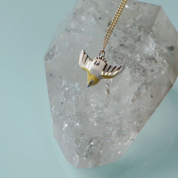 Diving Silvereye Necklace