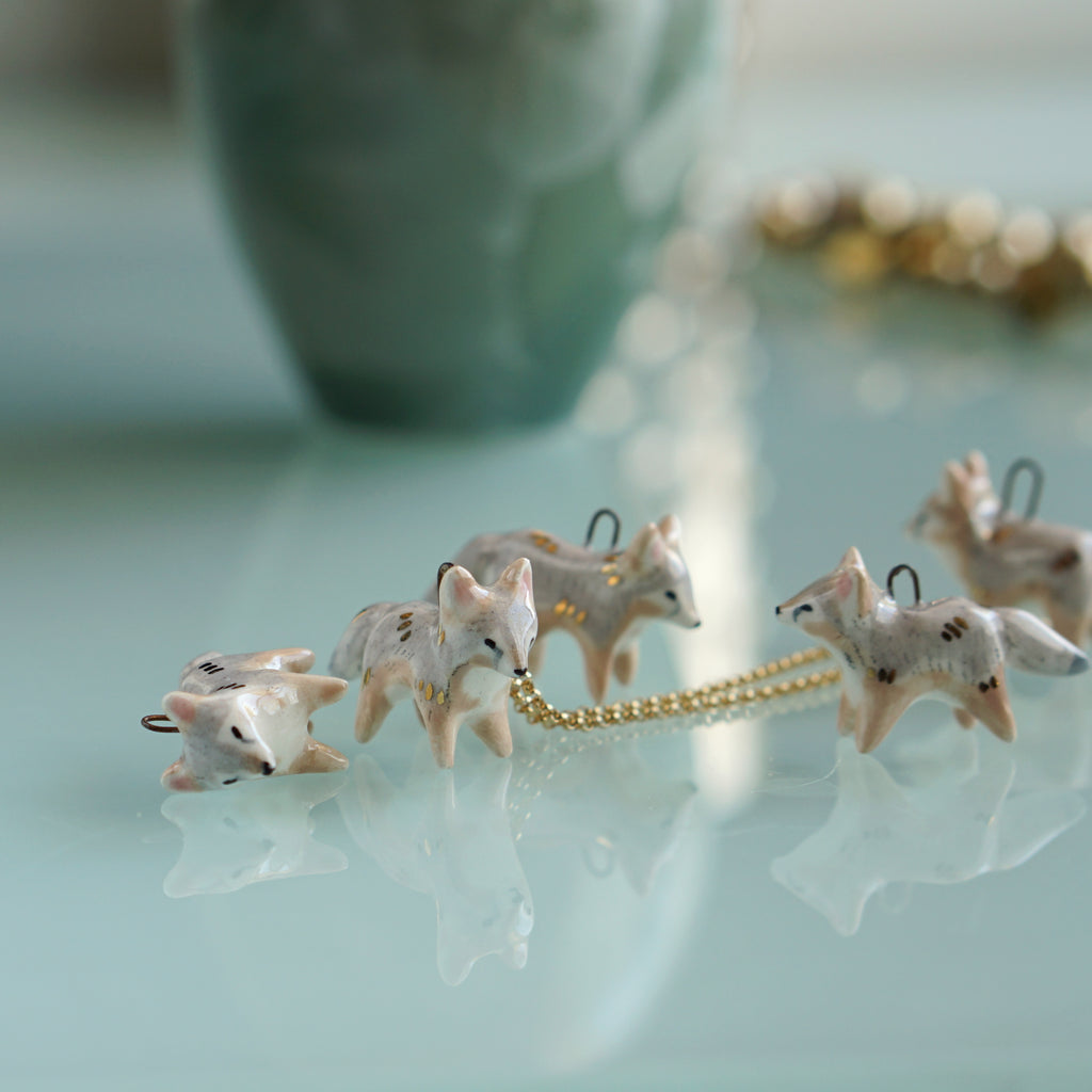 Grey Fox Necklace