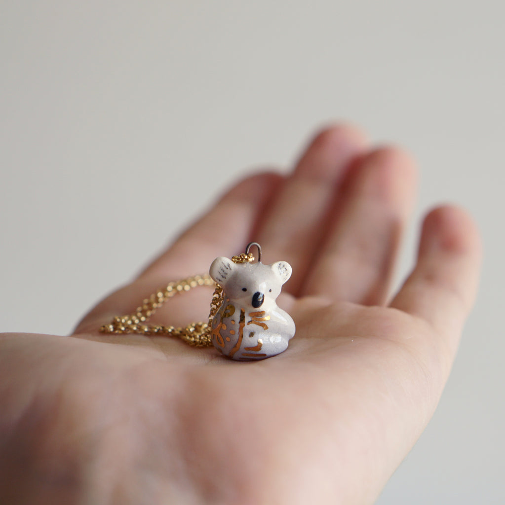 Koala necklace