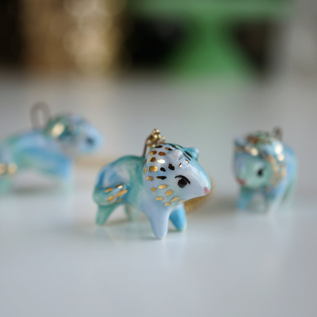 Blue Lion Necklace