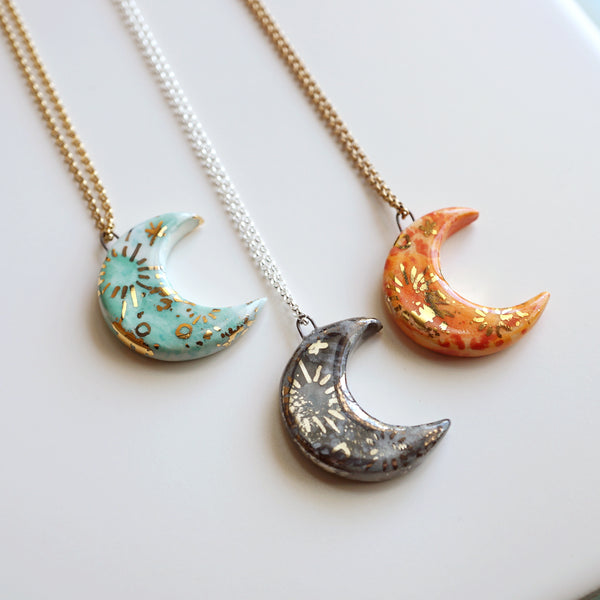 Large Moon Necklace