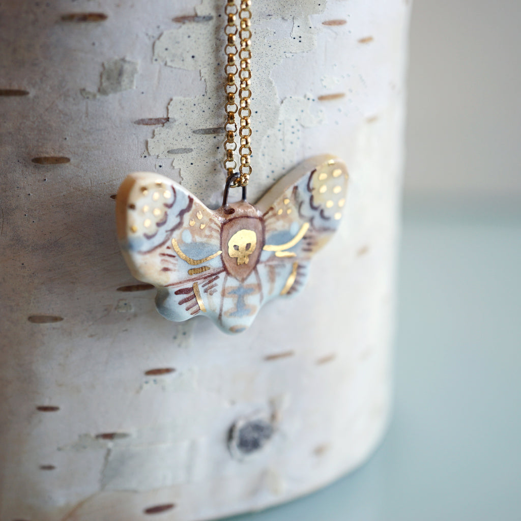 Death's Head Moth Necklace