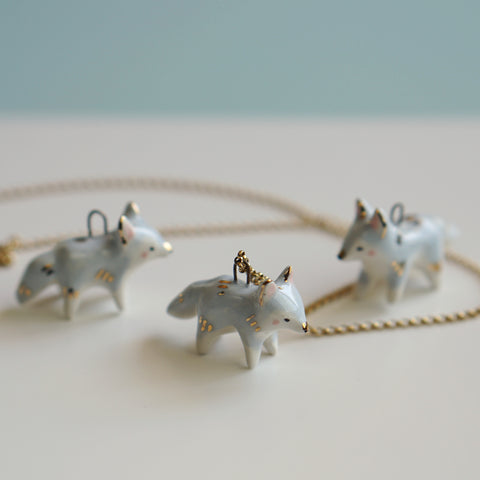 periwinkle Fox Necklace