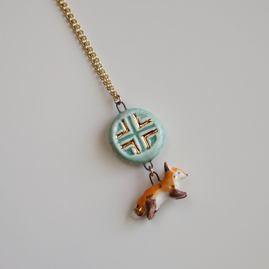 Mini Fox Talisman Necklace