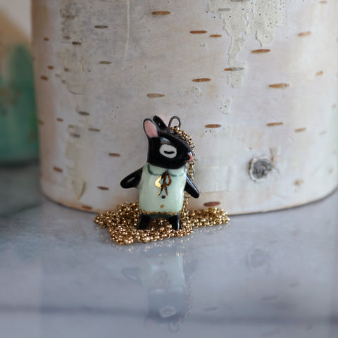 Black Rabbit Girl Necklace