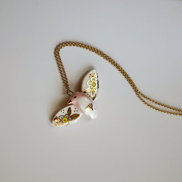 Floral Bird Necklace