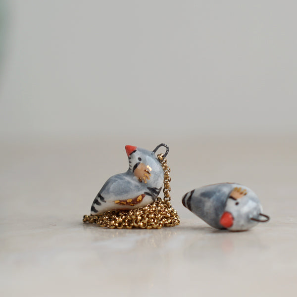 Zebra Finch Necklace