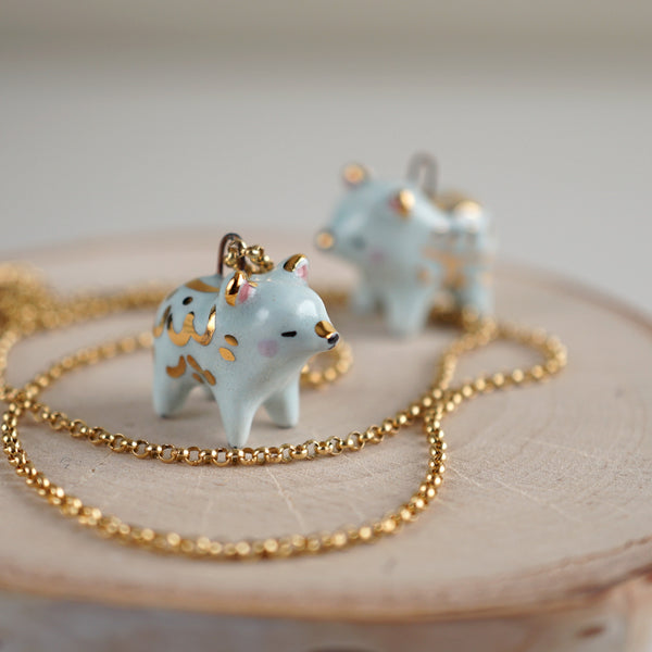 Little Blue Bear Necklace