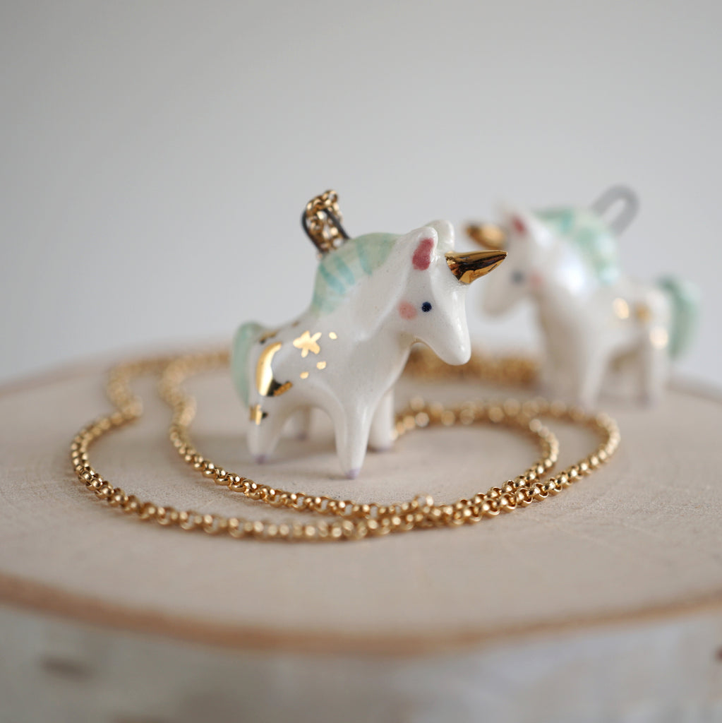 Unicorn Necklace- Mint