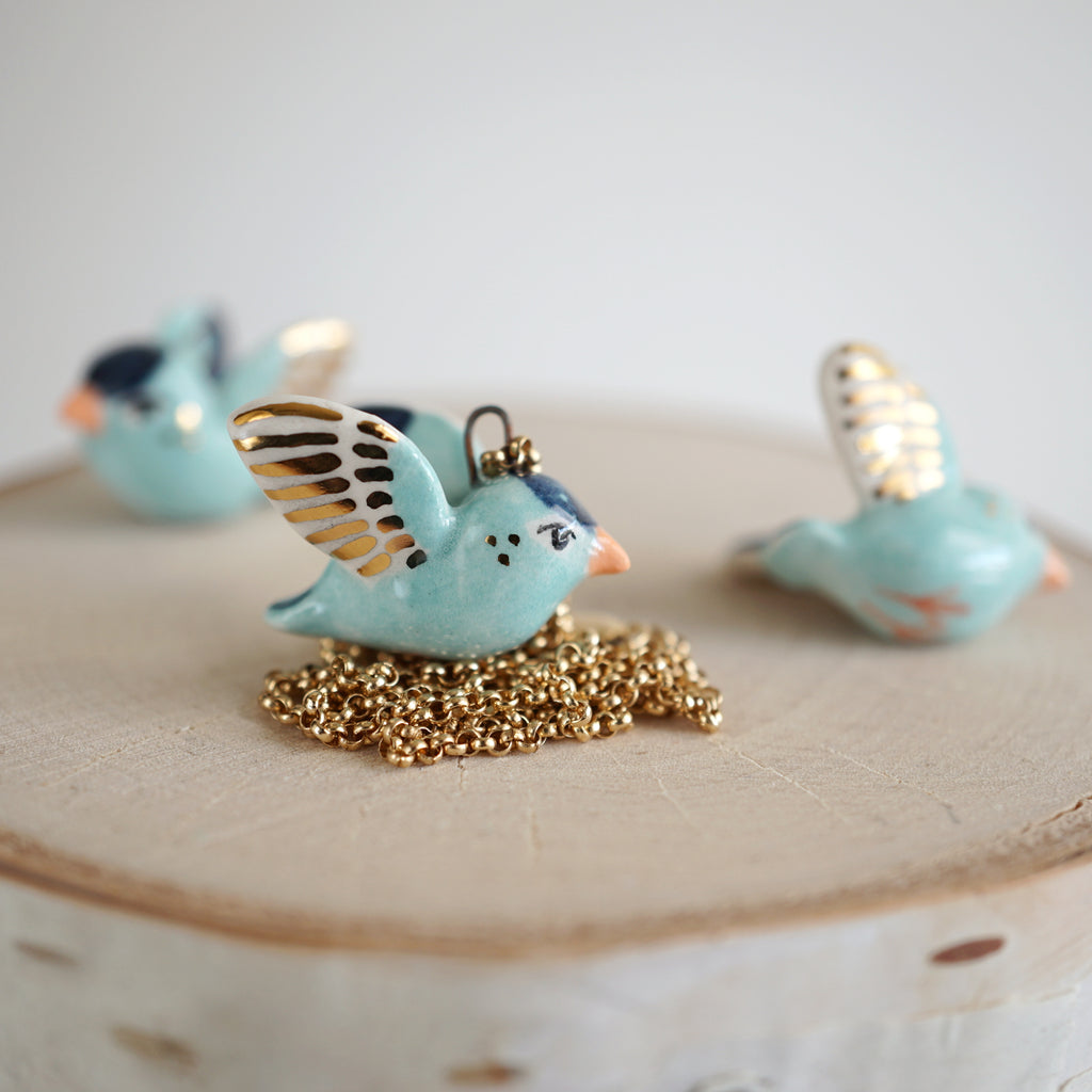 Blue Finch Necklace