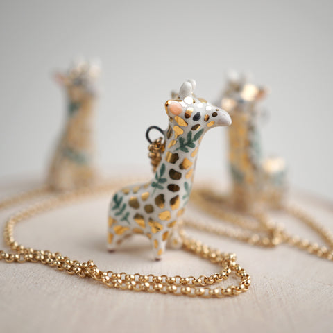 Fern Giraffe Necklace